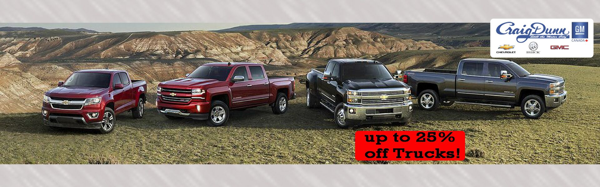 Up to 25% off Trucks