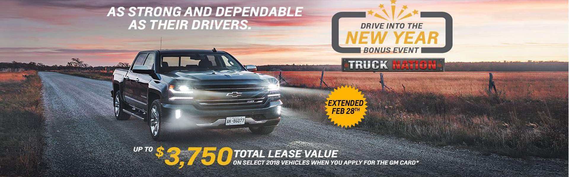 Chevy Lease Jan 2018