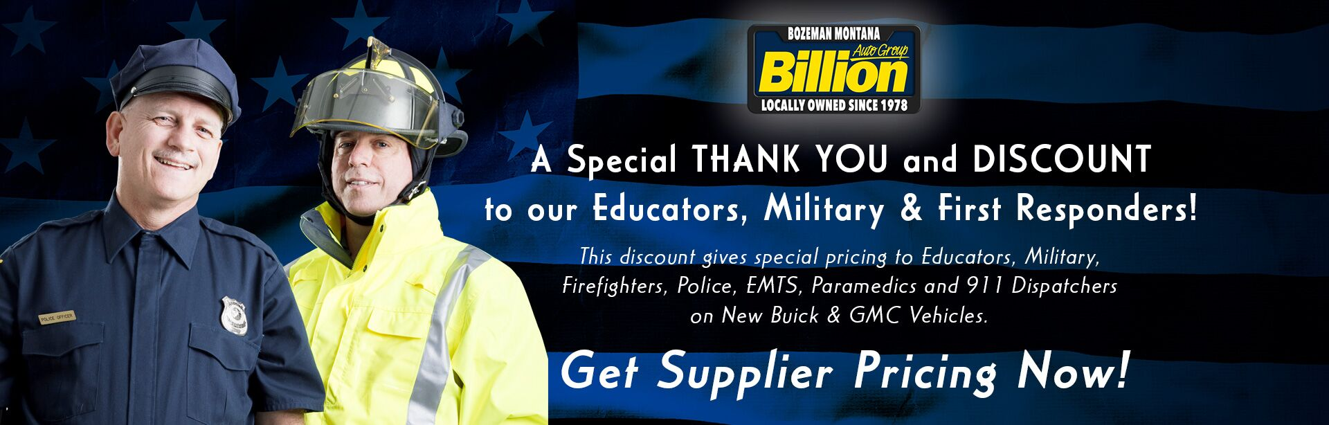 Educators, Military and First Responders