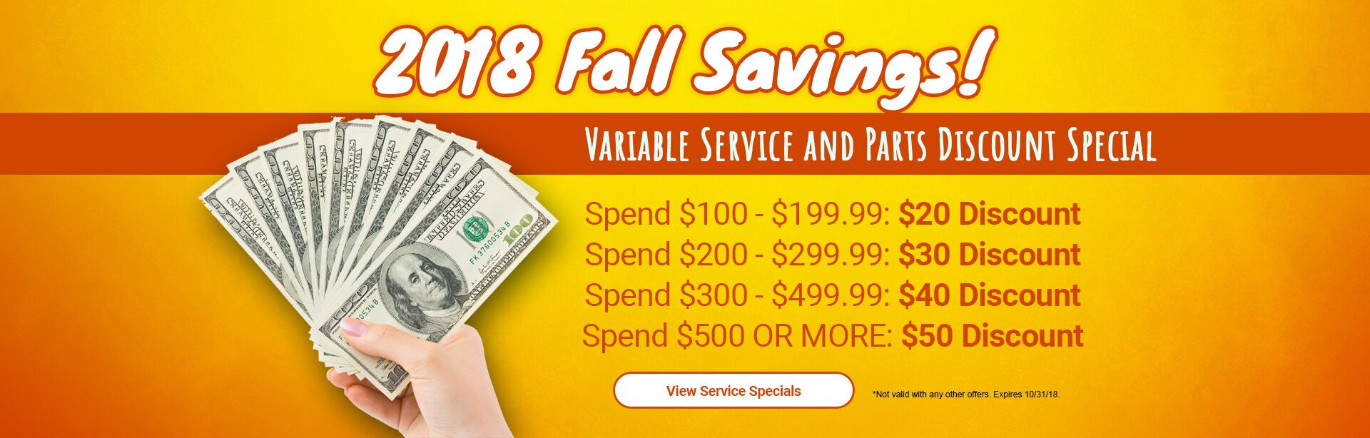 2018 Summer Savings!