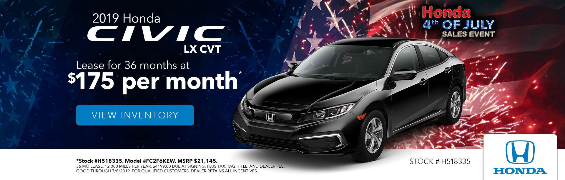 2019 Honda Civic at Gates Honda in Richmond, KY