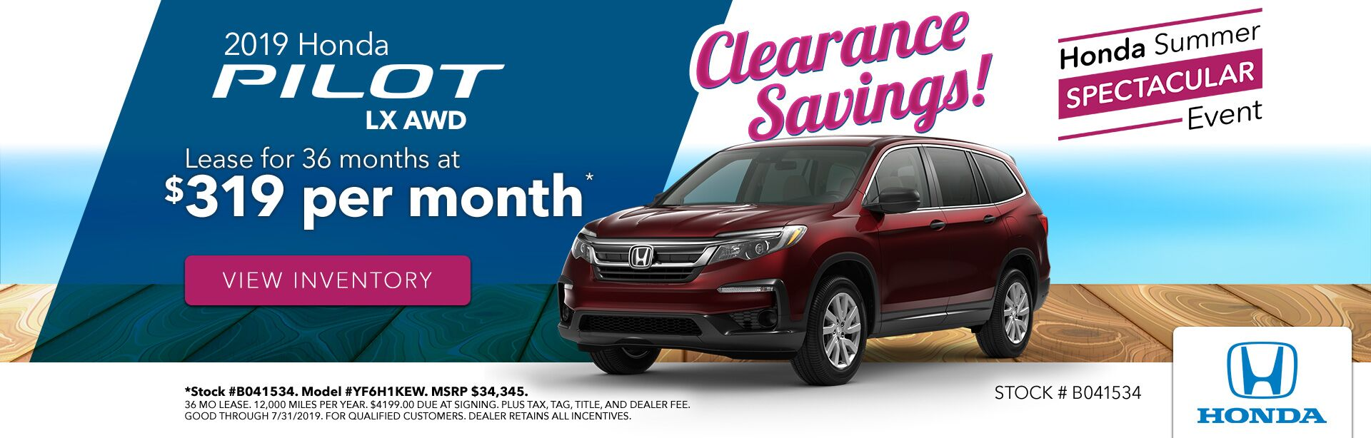 2019 Honda Pilot at Gates Honda in Richmond, KY