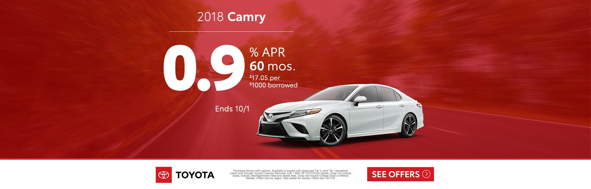 Camry APR Sept 2018