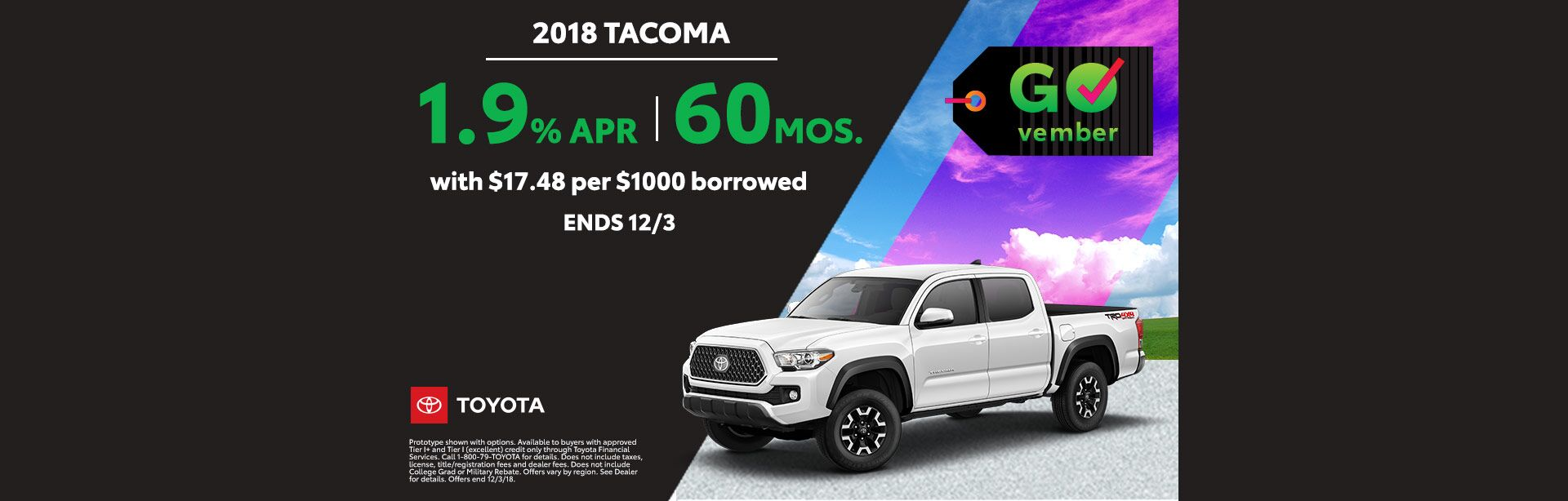 GOvember Tacoma Nov 2018