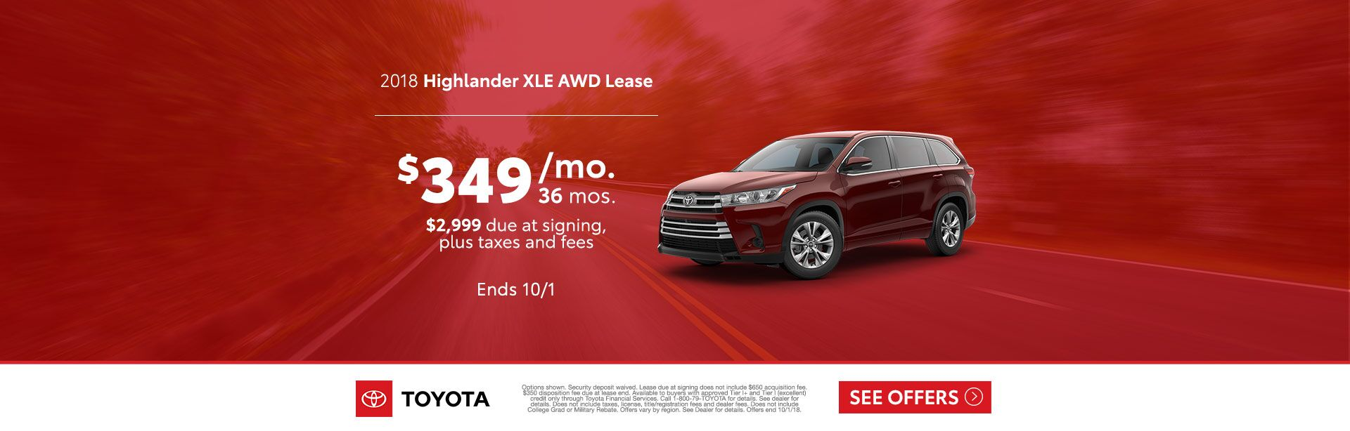 Highlander Lease Sept 2018