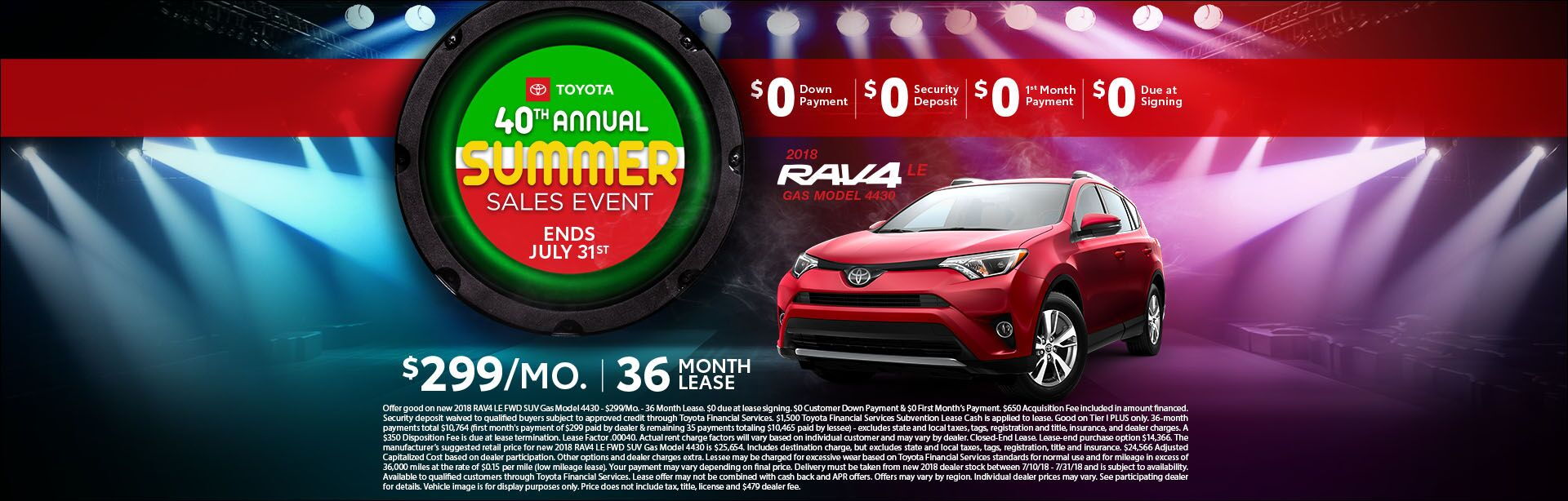Toyota - Summer Sales Event