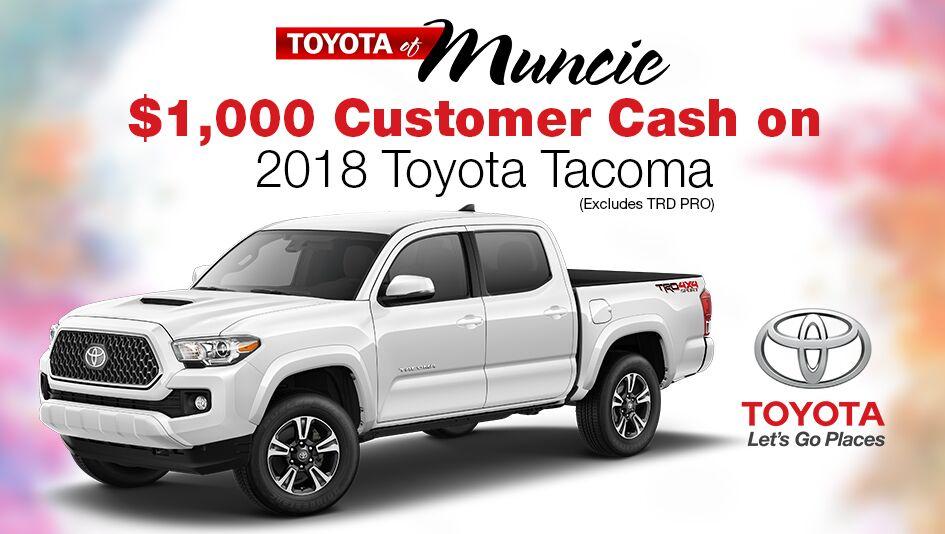 Tacoma $1,000 Customer Cash