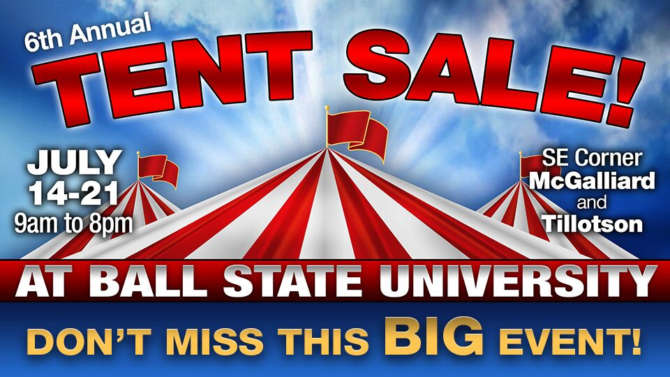 6th Annual Tent Sale