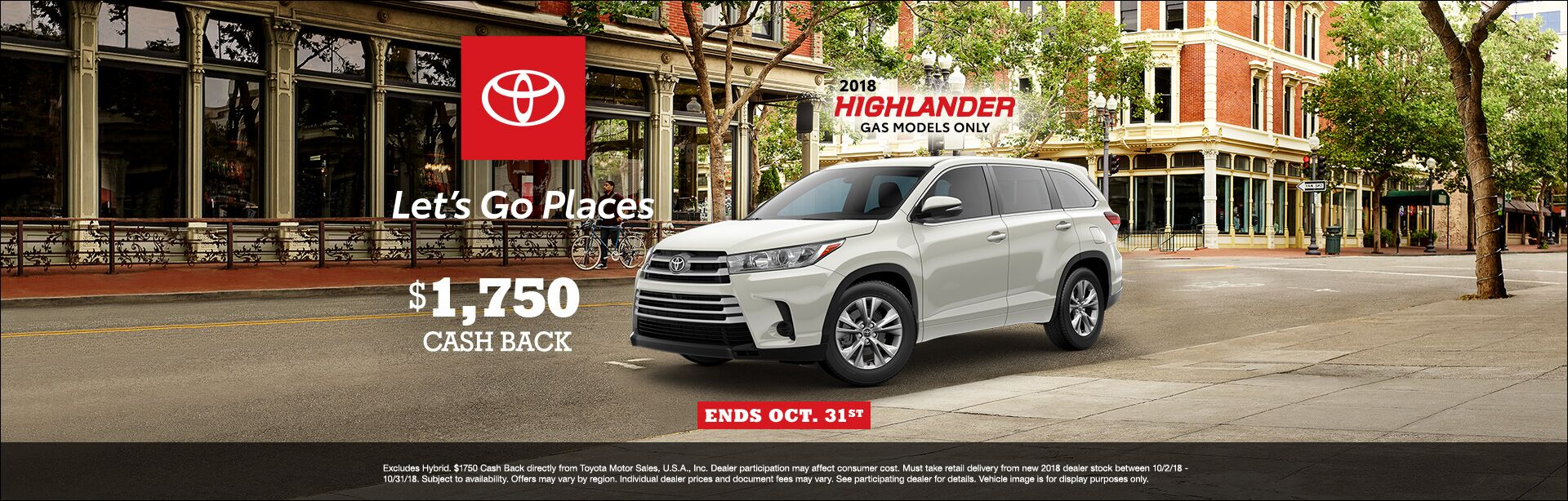 Highlander Cash Back Oct 2018