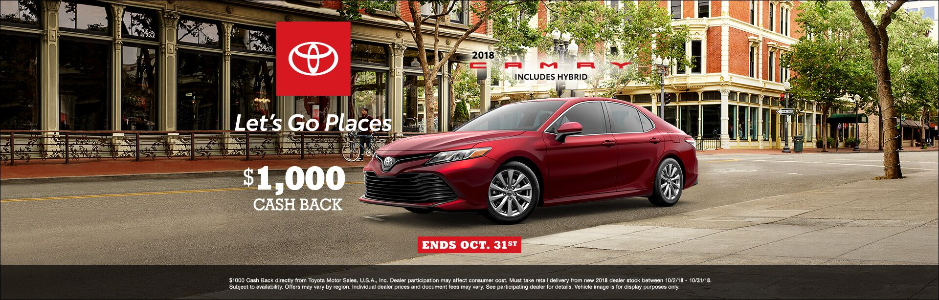 Camry Cash Back Oct 2018