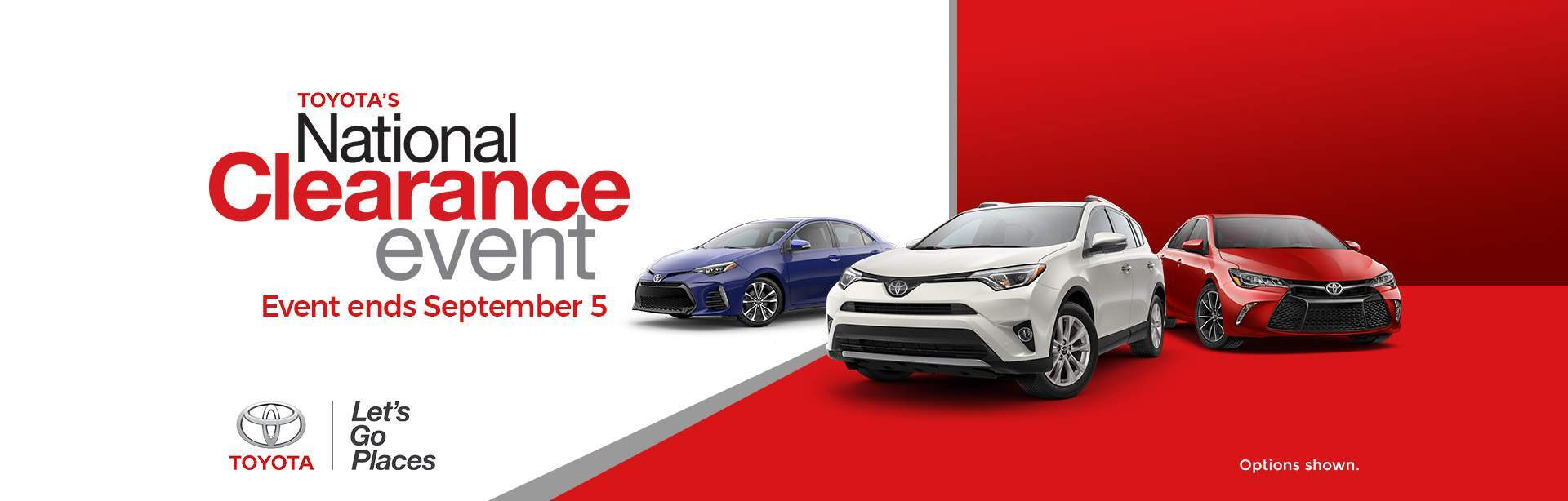 National Toyota Clearance Event