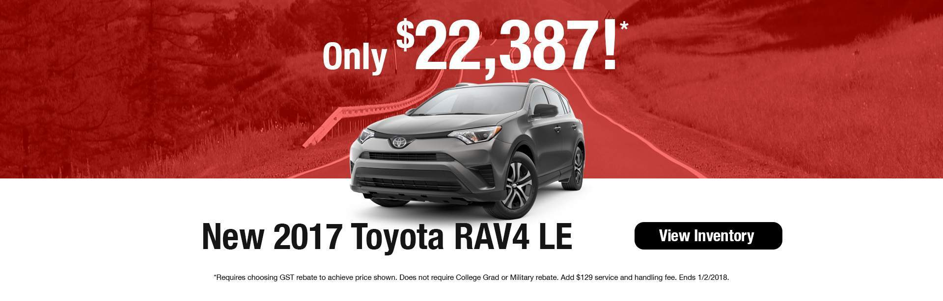 2017 RAV4 LE at J. Pauley Toyota