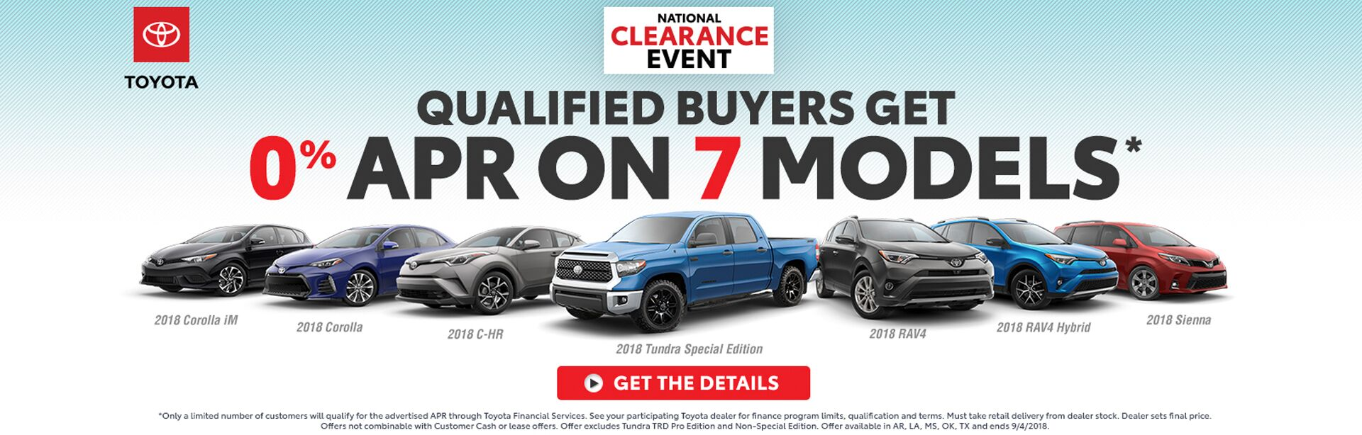 0% APR on 7 Models