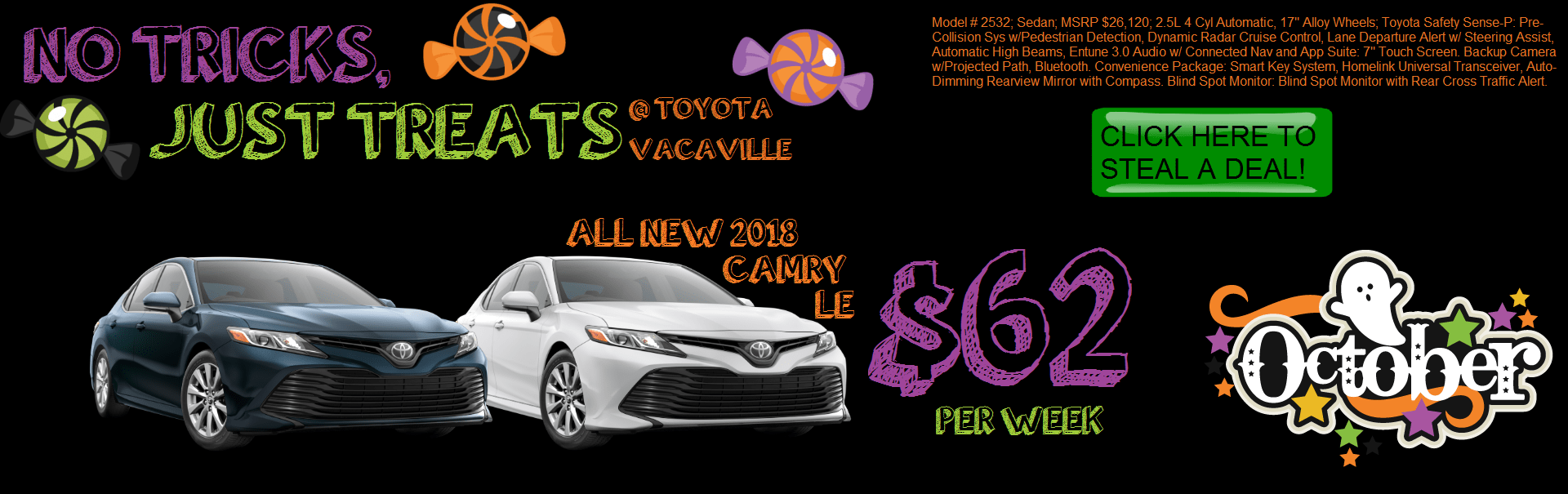 2018 Camry LE at Toyota Vacaville