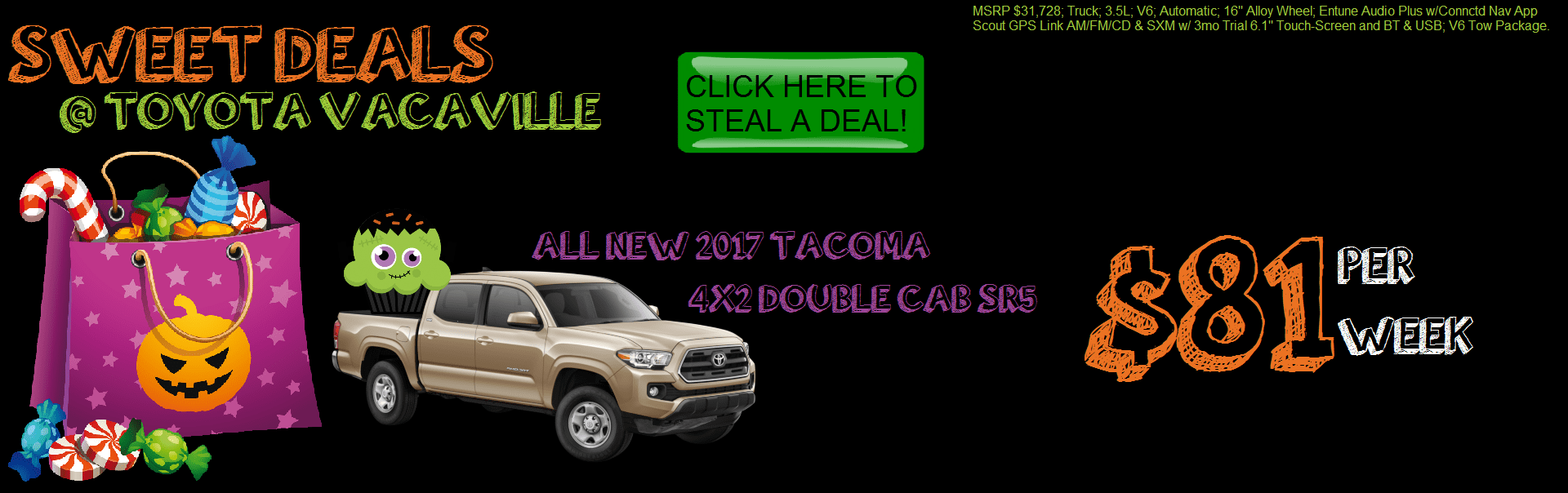 2017 Tacoma 4x2 SR5 Double Cab from Toyota Vacaville