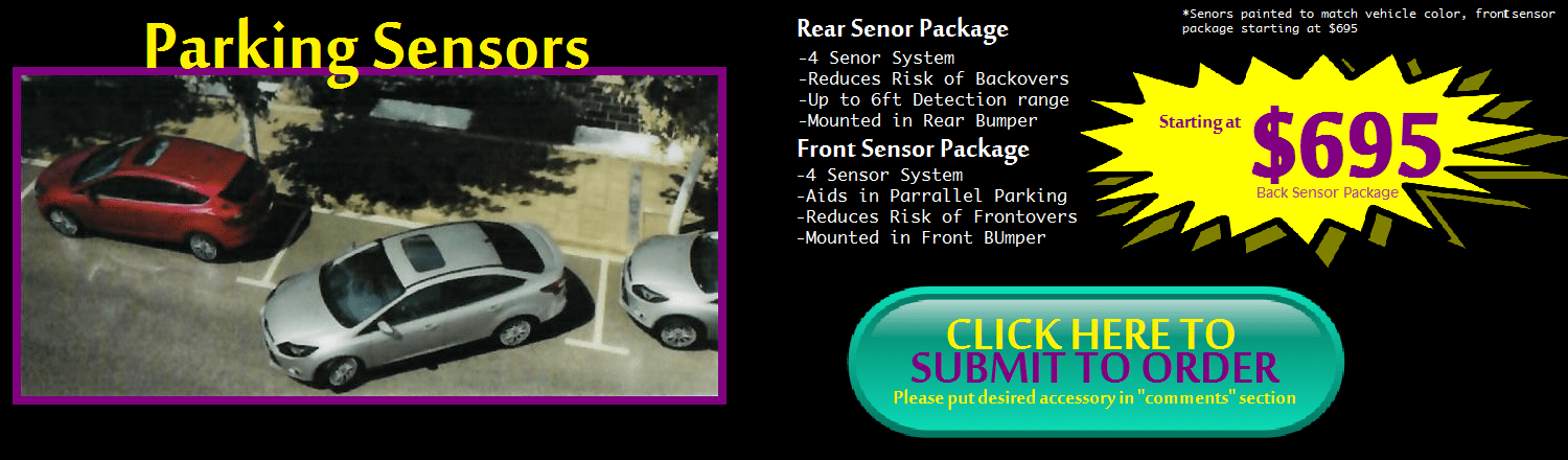 Parking Sensors at Toyotavacaville