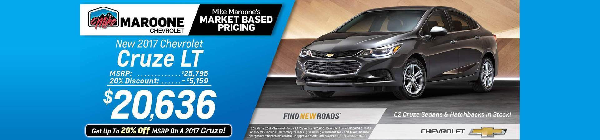 2017 Chevy Cruze LS Lease Colorado Springs