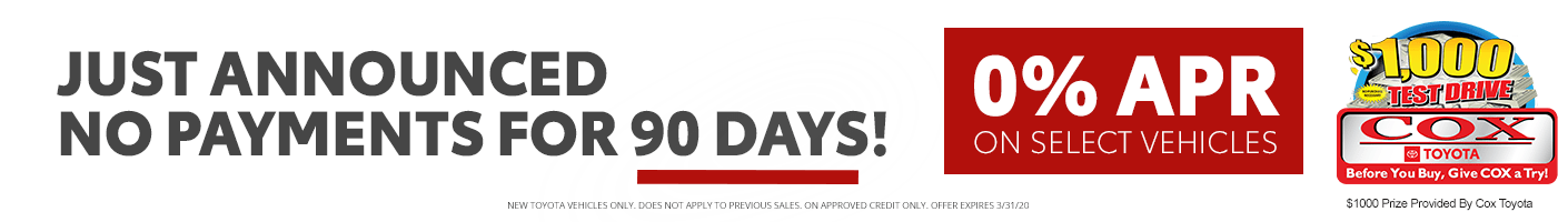 No Payment 90 Days!