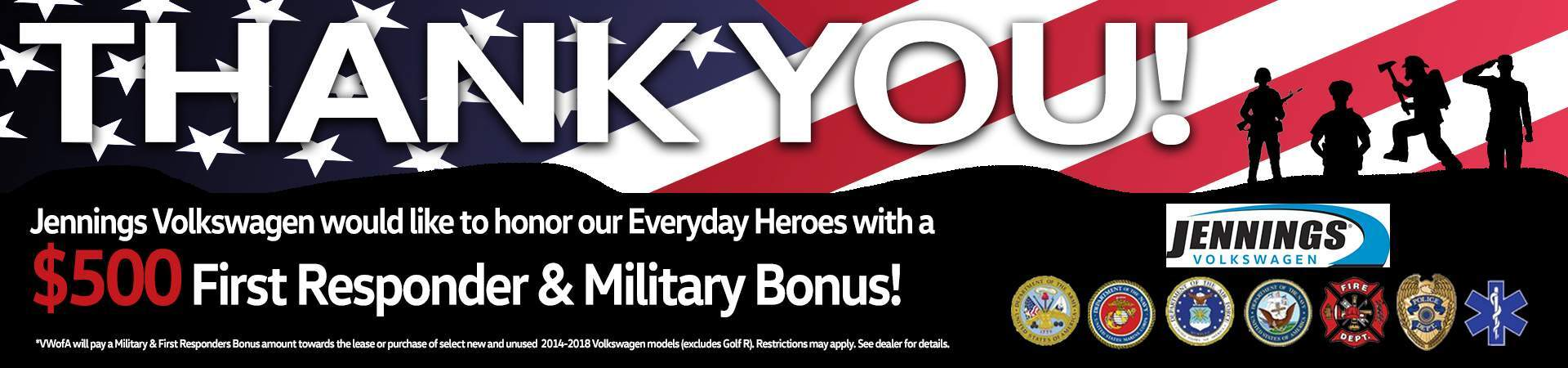 Military and First Responder Bonus