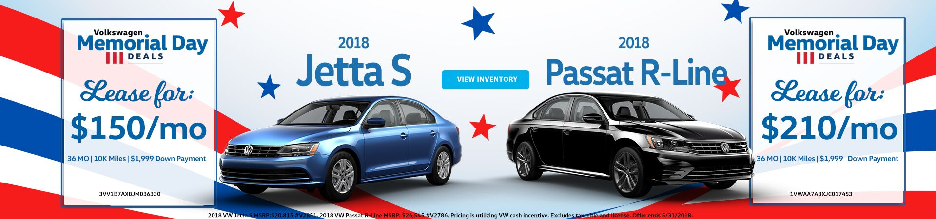 May Special - Jetta and Passat