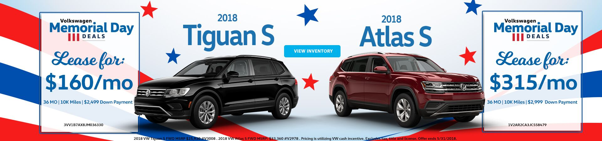 May Special - Atlas and Tiguan