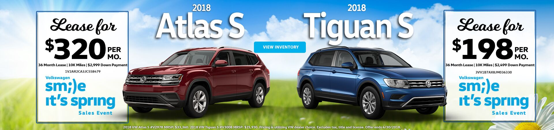 April Special - Atlas and Tiguan