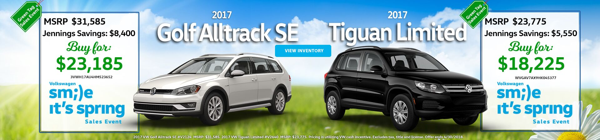 April Special - Golf Alltrack, Tiguan Limited