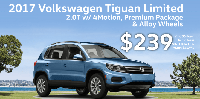 2017 Tiguan Limited 2.0T w/ 4Motion and Premium and Alloys