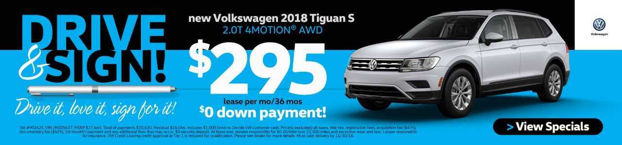 DRIVE AND SIGN TIGUAN