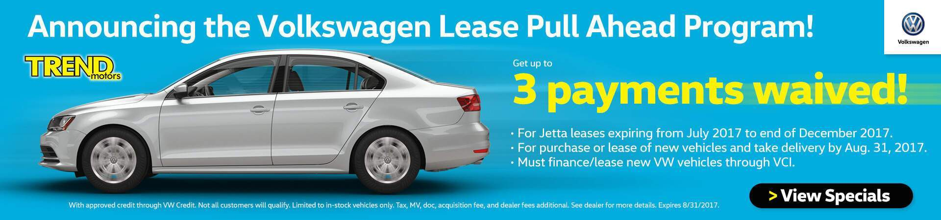 VW Lease Pull Ahead