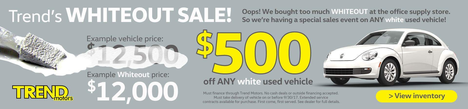 White Out Sale
