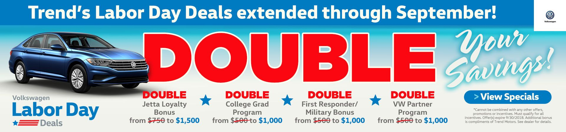 Labor Day Extended Double 2