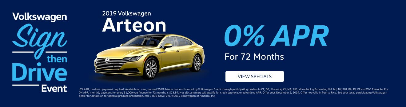 Arteon APR Special Sign Then Drive