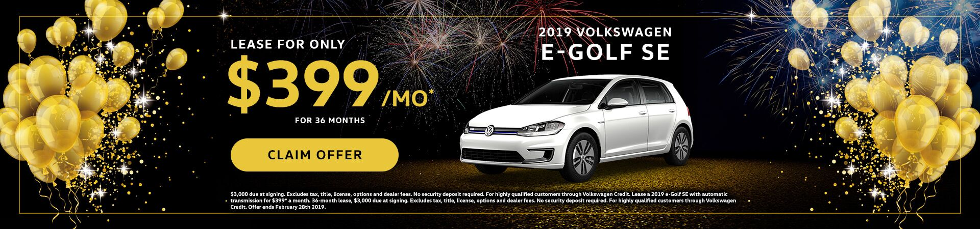 2019 VW eGolf January Special