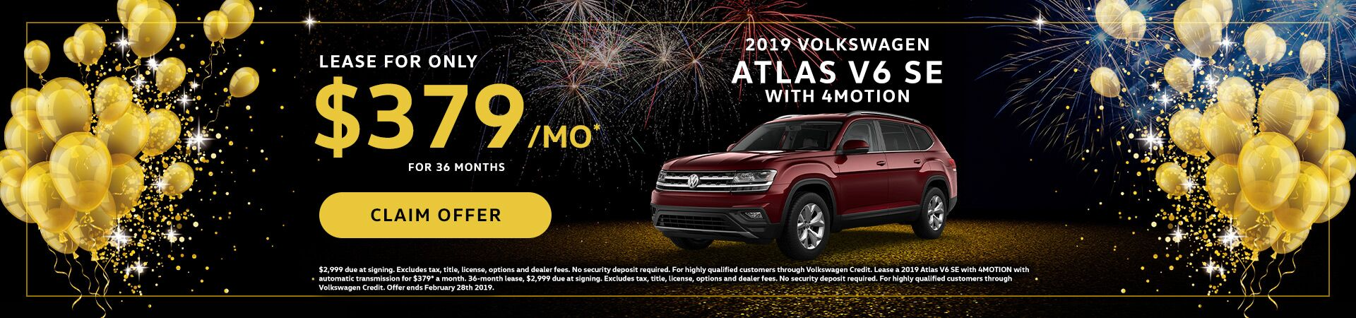 2019 VW Atlas January Special