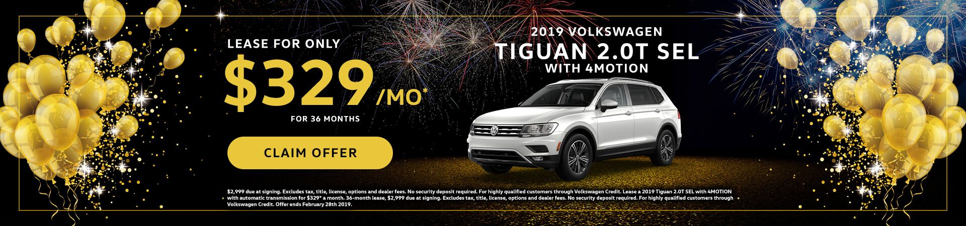 2019 VW Tiguan January Special