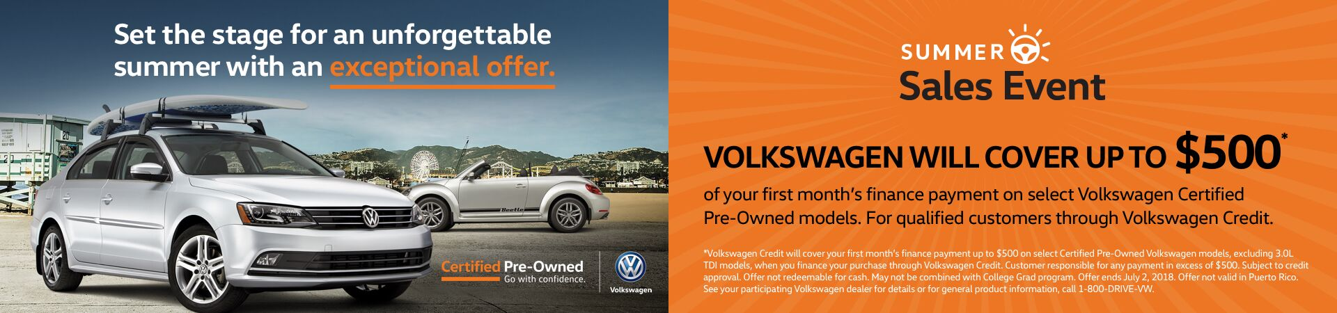 Summer Volkswagen Certified Pre-Owned Sales Event