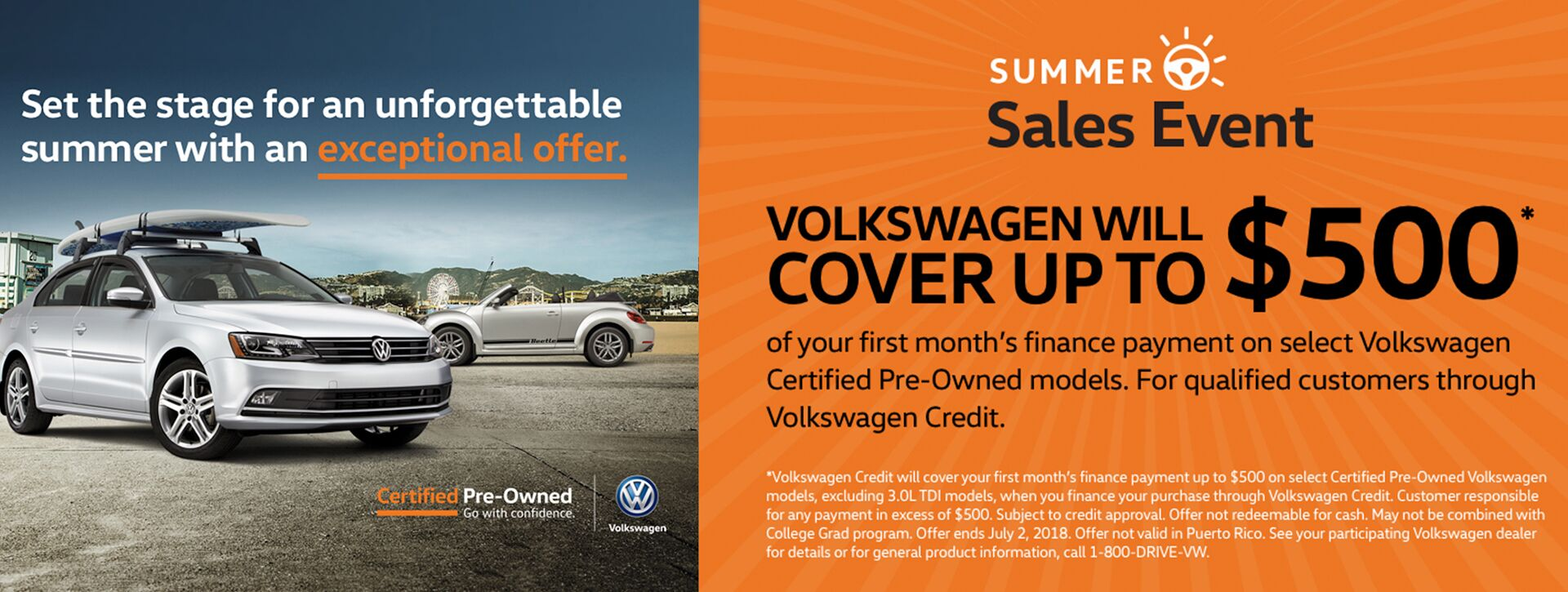 VW CPO Summer Sales Event