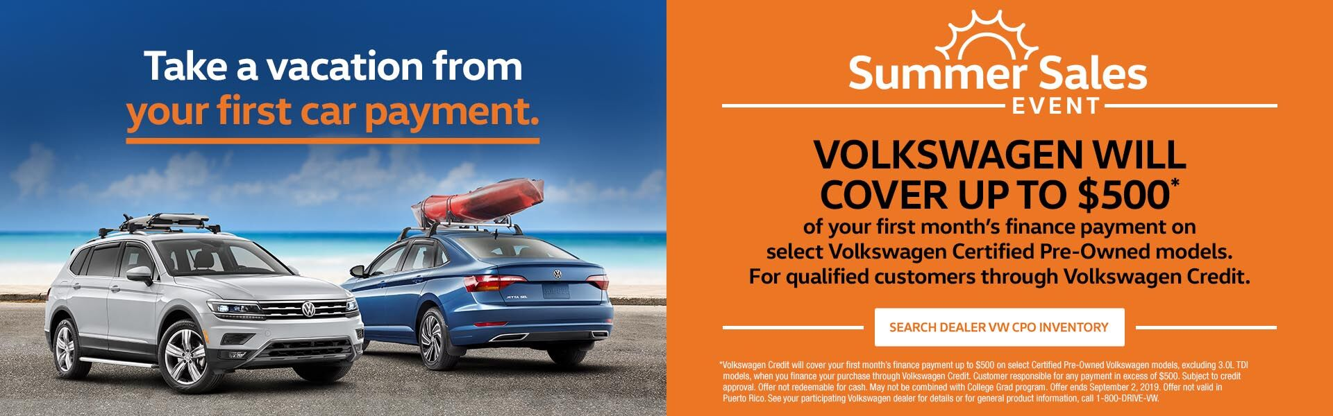 Volkswagen Summer Sales Event