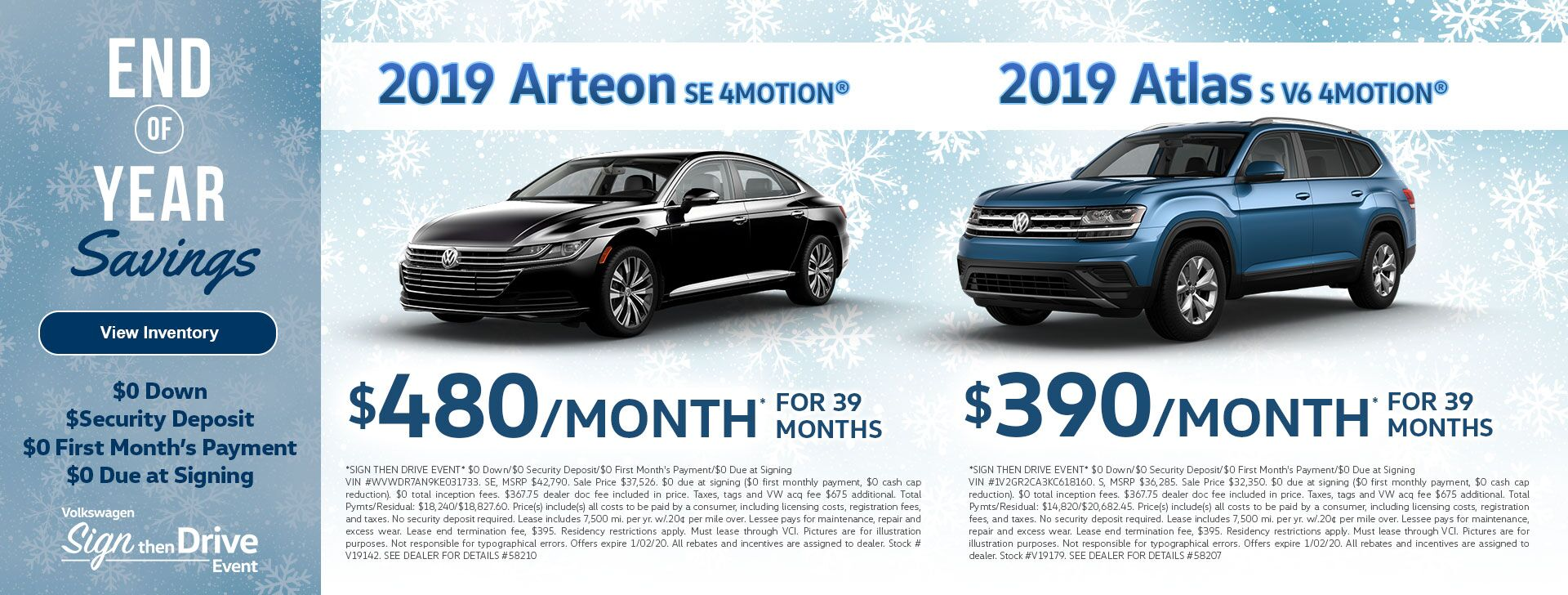 Arteon & Atlas Dec Leases