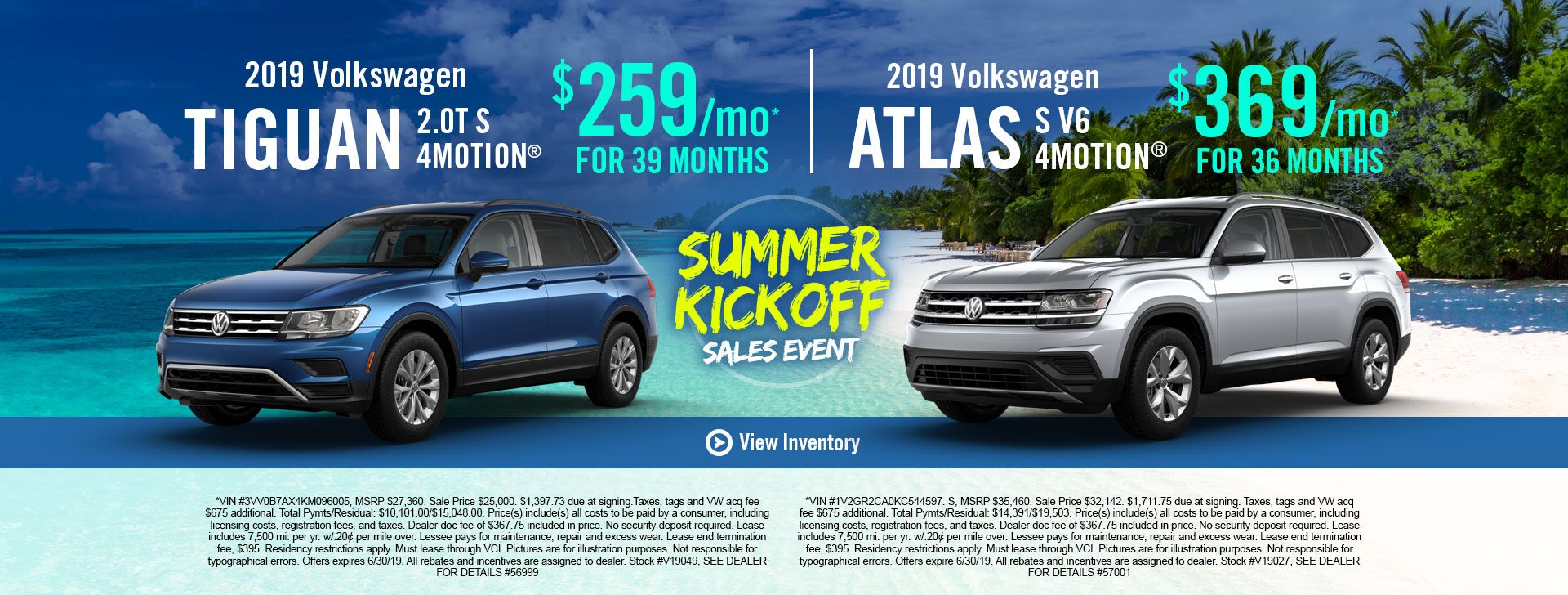 2019 Tiguan and Atlas