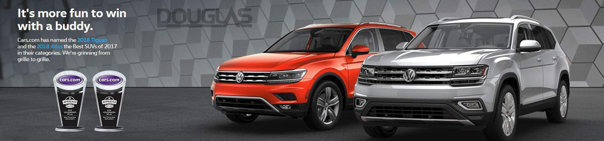 Tiguan & Atlas win prestigious Cars.com SUV Awards