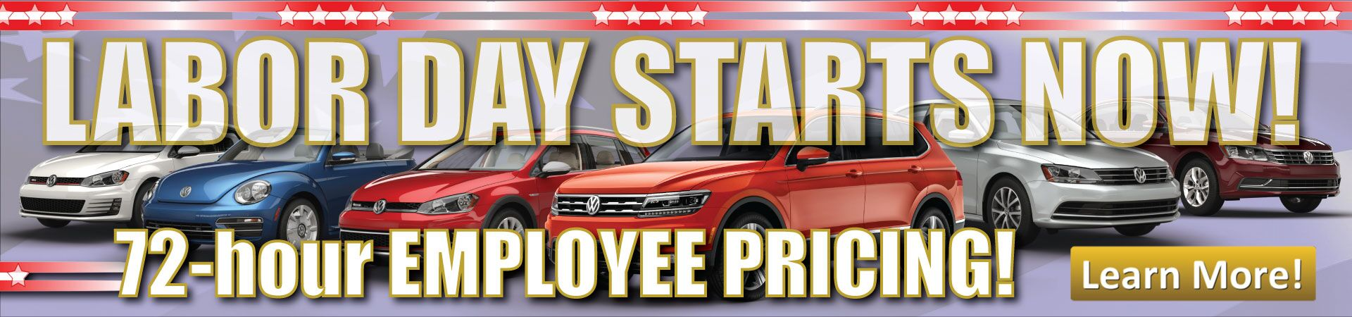 Labor Day starts now at Douglas Volkswagen!