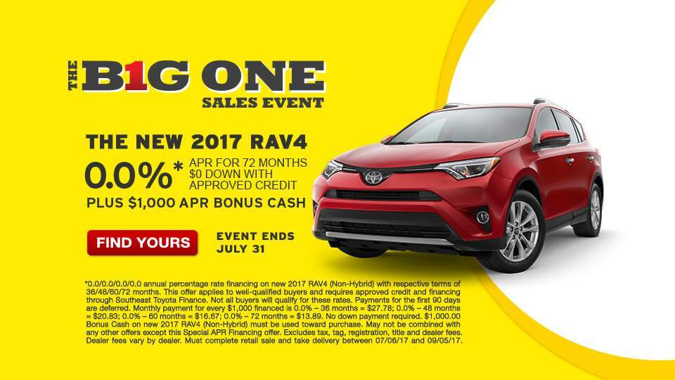 Big One Sales Event Rav4