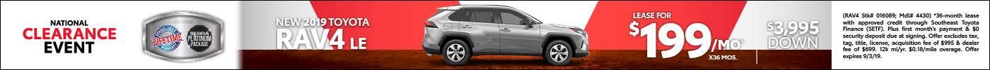 New 2019 Toyota RAV4