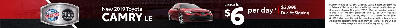 New Camry Lease