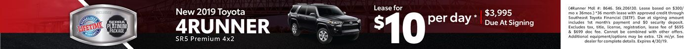 New 4Runner Lease