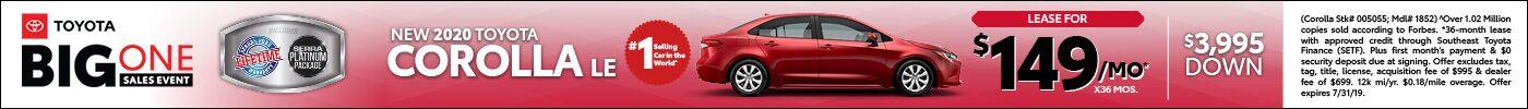 2020 New Toyota Corolla