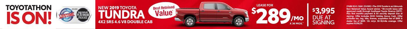 New 2019 Toyota Tundra 4x2 SR5 4.6 V8 Double Cab