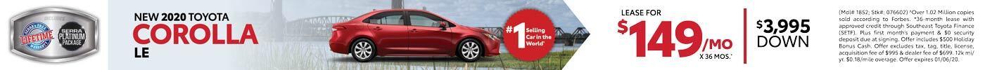Nov 2020 Toyota Corolla